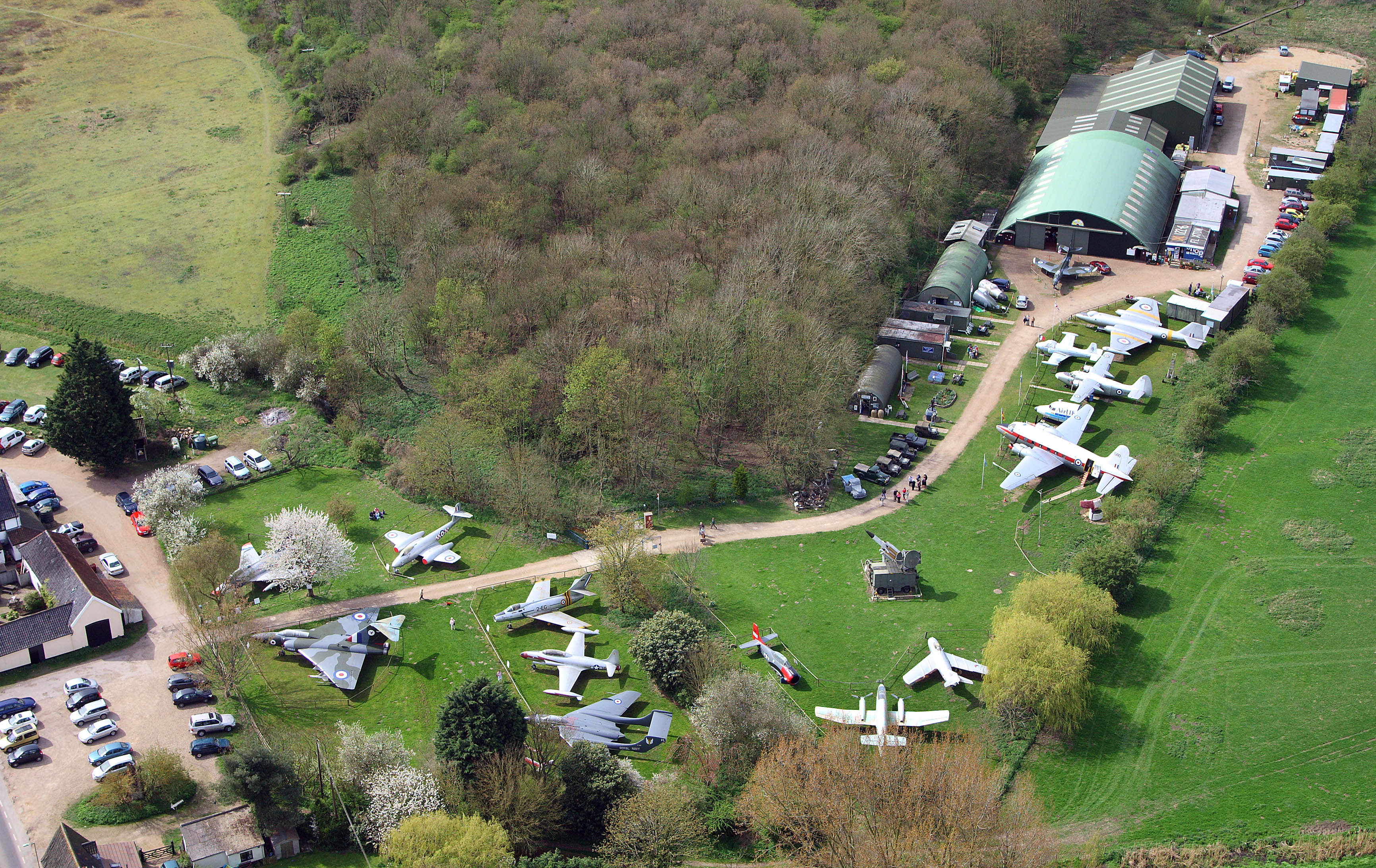 Aerial view of the museum