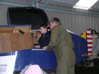 School visitors in the Link Trainer